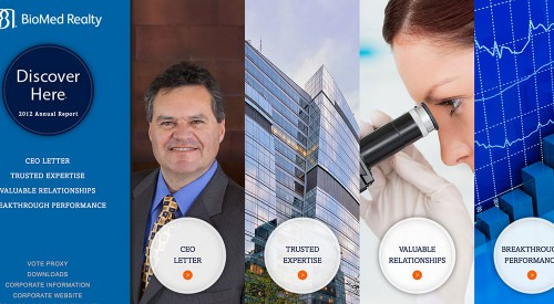 BioMed Realty 2012 Online Annual Report