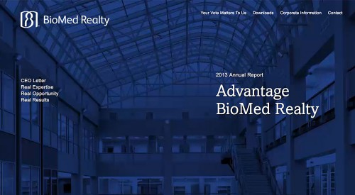 BioMed Realty 2013 Online Annual Report