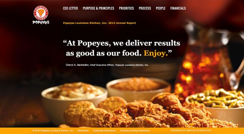 Popeyes 2013 Online Annual Report